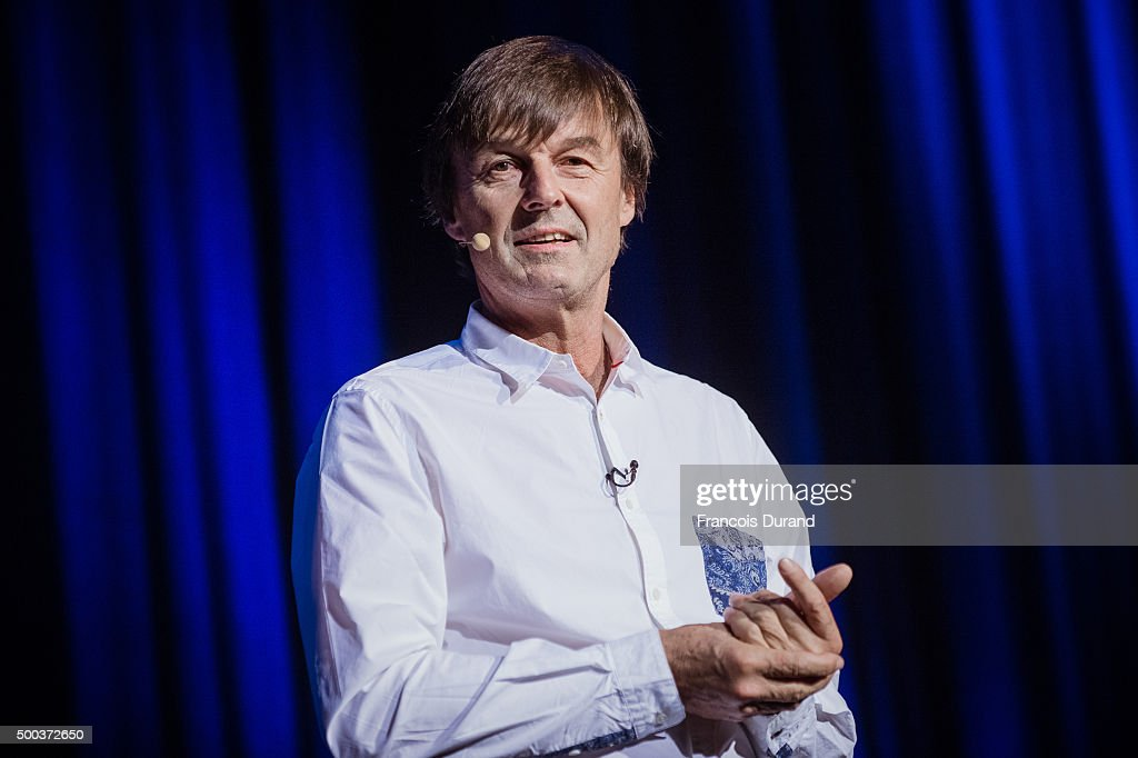 <a gi-track='captionPersonalityLinkClicked' href=/galleries/search?phrase=Nicolas+Hulot&family=editorial&specificpeople=2372364 ng-click='$event.stopPropagation()'>Nicolas Hulot</a> attends the 'Act For Climate' event at L'Olympia on December 7, 2015 in Paris, France.