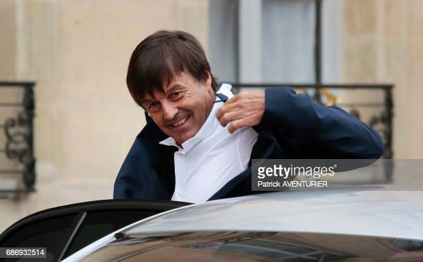 Nicolas Hulot environment minister arrives for a cabinet meeting at the Elysée Palace in Paris France on May 18 2017