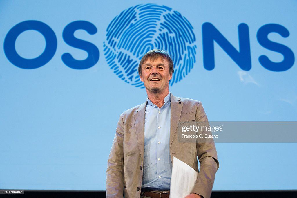 <a gi-track='captionPersonalityLinkClicked' href=/galleries/search?phrase=Nicolas+Hulot&family=editorial&specificpeople=2372364 ng-click='$event.stopPropagation()'>Nicolas Hulot</a> foundation holds the conference ' L'appel de <a gi-track='captionPersonalityLinkClicked' href=/galleries/search?phrase=Nicolas+Hulot&family=editorial&specificpeople=2372364 ng-click='$event.stopPropagation()'>Nicolas Hulot</a>' at Le Grand Rex on October 7, 2015 in Paris, France.