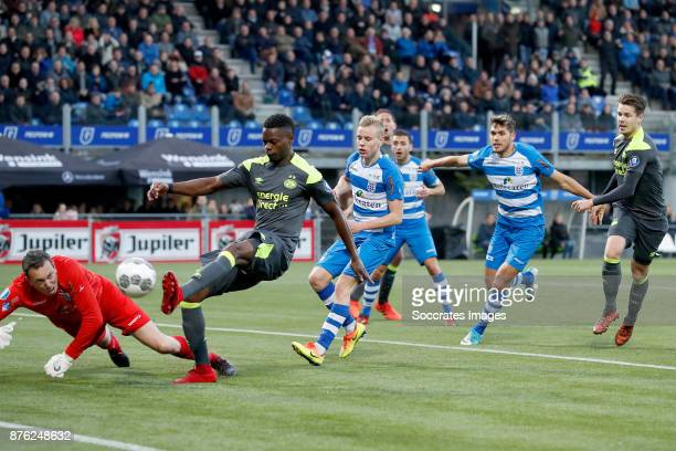 Nicolas Isimat of PSV scores his sideÕs first goal to make it 01 during the Dutch Eredivisie match between PEC Zwolle v PSV at the MAC3PARK Stadium...