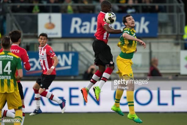 Nicolas IsimatMirin of PSV Mike Havenaar of ADO Den Haagduring the Dutch Eredivisie match between ADO Den Haag and PSV Eindhoven at Kyocera stadium...