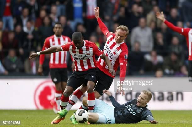 Nicolas IsimatMirin of PSV Siem de Jong of PSV Donny van de Beek of Ajaxduring the Dutch Eredivisie match between PSV Eindhoven and Ajax Amsterdam at...
