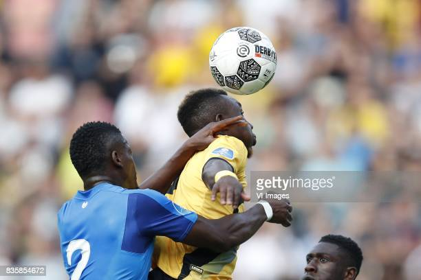 Nicolas IsimatMirin of PSV Thierry Ambrose of NAC Breda Derrick Luckassen of PSV during the Dutch Eredivisie match between NAC Breda and PSV...