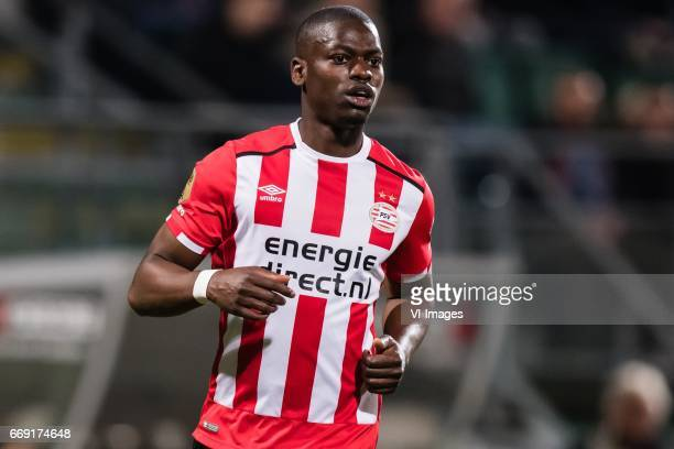 Nicolas IsimatMirin of PSVduring the Dutch Eredivisie match between ADO Den Haag and PSV Eindhoven at Kyocera stadium on April 15 2017 in The Hague...