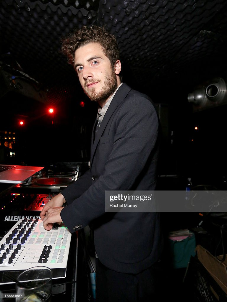 Nicolas Jaar performs during Flaunt Magazine and David Lynch celebrate the Shared Releases Of Context Issue and The Big Dream at an event powered by Dell at mmhmmm at The Standard, Hollywood on July 11, 2013 in Hollywood, California.