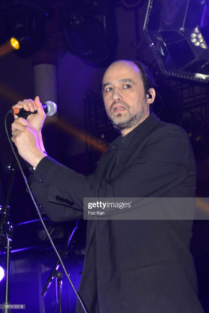 Nicolas Ker and the Poni Hoax band perform during the Villa Schweppes Launch Party For Cannes Film Festival 2013 At Salle Wagram on April 24, 2013 in Paris, France.