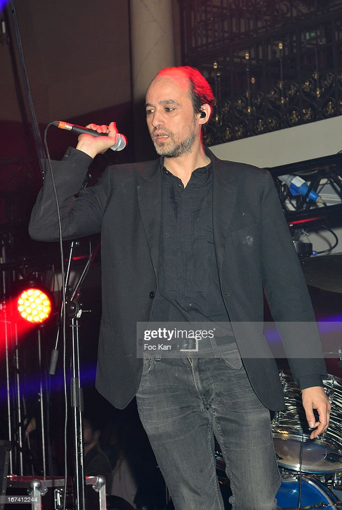 Nicolas Ker from the Poni Hoax band performs during the Villa Schweppes Launch Party For Cannes Film Festival 2013 At Salle Wagram on April 24, 2013 in Paris, France.