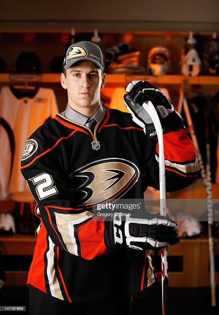 Nicolas Kerdiles, 36th overall pick by the Anaheim Ducks, poses for a portrait during the 2012 NHL Entry Draft at Consol Energy Center on June 23, 2012 in Pittsburgh, Pennsylvania.