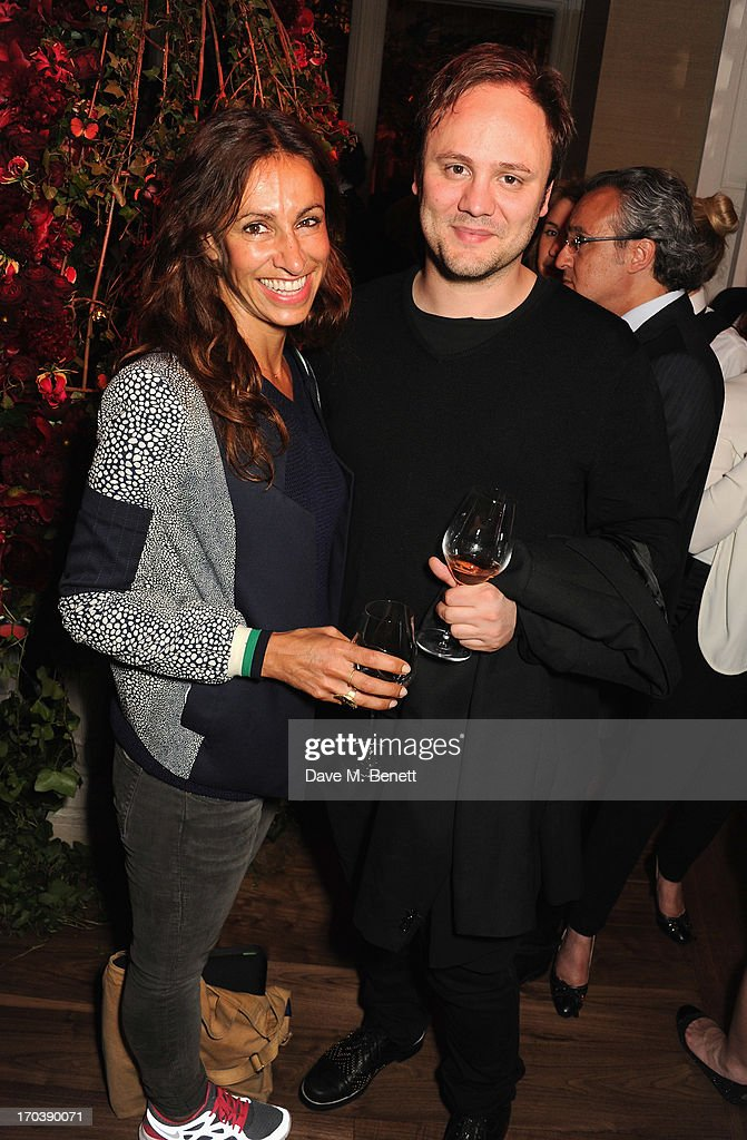 Nicolas Kirkwood and guest attend the Dom Perignon Rose 2002 Dark Jewel launch with Stephen Webster at The Connaught Hotel on June 12, 2013 in London, England.