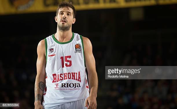 Nicolas Laprovittola #15 of Baskonia Vitoria Gasteiz in action during the 2016/2017 Turkish Airlines EuroLeague Regular Season Round 20 game between...