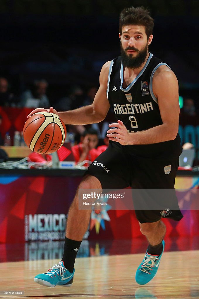 Nicolas Laprovittola of Argentina drives the ball during a second stage match between Argentina and Panama as part of the 2015 FIBA Americas...