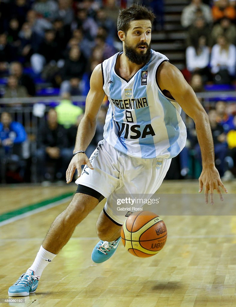 Nicolas Laprovittola of Argentina in action during a match between Argentina and Venezuela as part of Four Nations Championship at Tecnopolis Stadium...