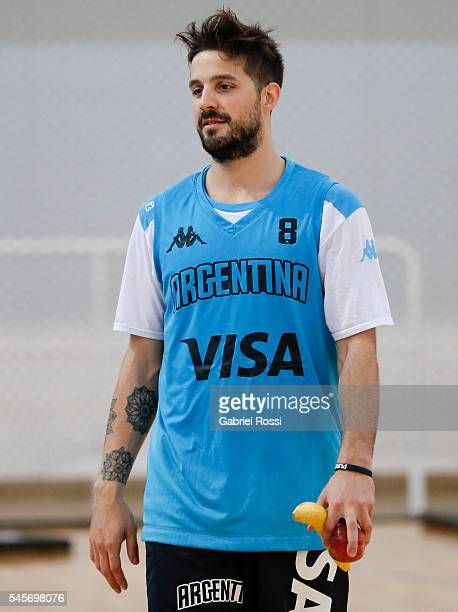 Nicolas Laprovittola of Argentina looks on during Argentina Training Session at CeNARD on July 09 2016 in Buenos Aires Argentina