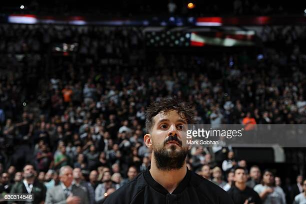 Nicolas Laprovittola of the San Antonio Spurs is seen before the game against the Boston Celtics on December 14 2016 at the ATT Center in San Antonio...