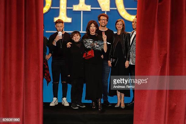 Nicolas Lazaridis Katharina Thalbach Iris Berben Daniel Hartwich Alexandra Maria Lara and Prince Damien attend the European premiere of 'Sing' at...