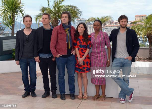Nicolas Lebrun Francois Goetghebeur Benjamin Biolay Olivia Ruiz Dyana Gaye and Alexis Michalik attend the 'ADAMI' Photocall at the 67th Annual Cannes...