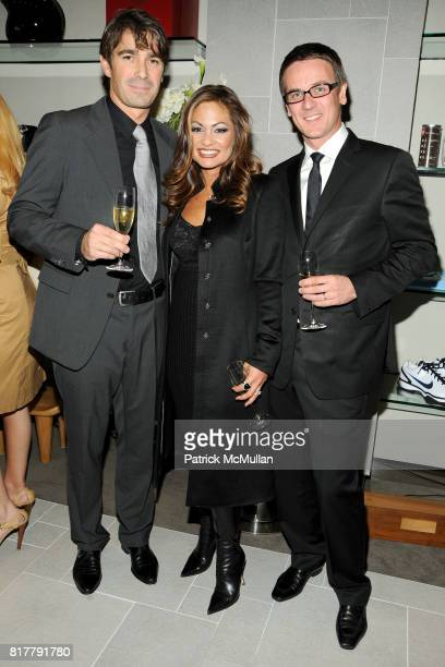 Nicolas Lemaire Orianne Collins and Arnault attend ORIANNE COLLINS Celebrates Opening of US OC CONCEPT STORE at OC Concept Store on October 14 2010...