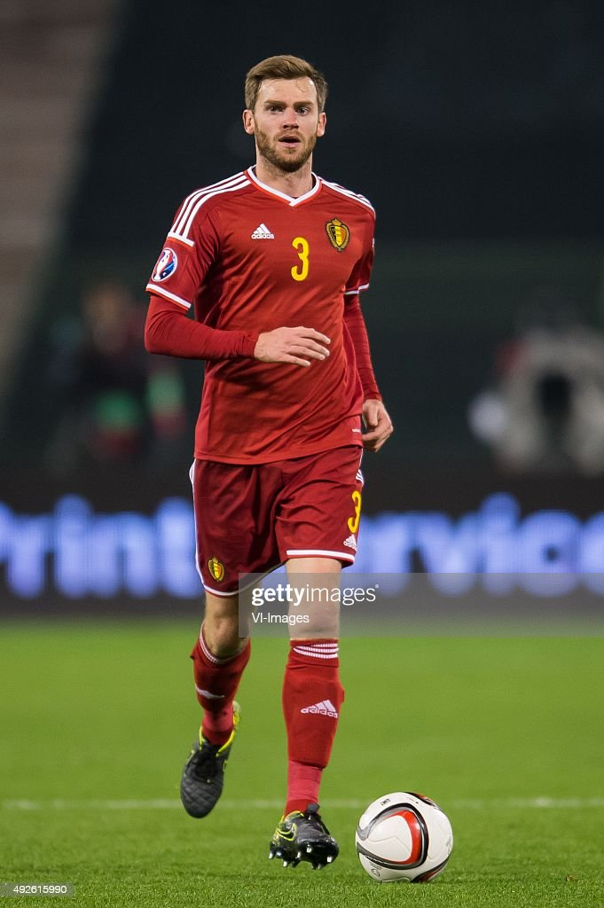 <a gi-track='captionPersonalityLinkClicked' href=/galleries/search?phrase=Nicolas+Lombaerts&family=editorial&specificpeople=4332055 ng-click='$event.stopPropagation()'>Nicolas Lombaerts</a> of Belgium during the UEFA EURO 2016 group B qualifying match between Belgium and Israel on October 13, 2015 at the Koning Boudewijn stadium in Brussels, Belgium.