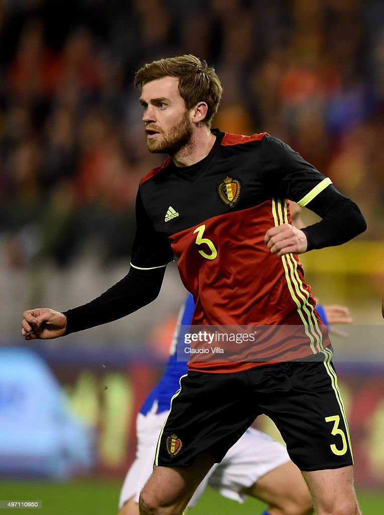 <a gi-track='captionPersonalityLinkClicked' href=/galleries/search?phrase=Nicolas+Lombaerts&family=editorial&specificpeople=4332055 ng-click='$event.stopPropagation()'>Nicolas Lombaerts</a> of Belgium looks on during the international friendly match between Belgium and Italy at King Baudouin Stadium on November 13, 2015 in Brussels, Belgium.