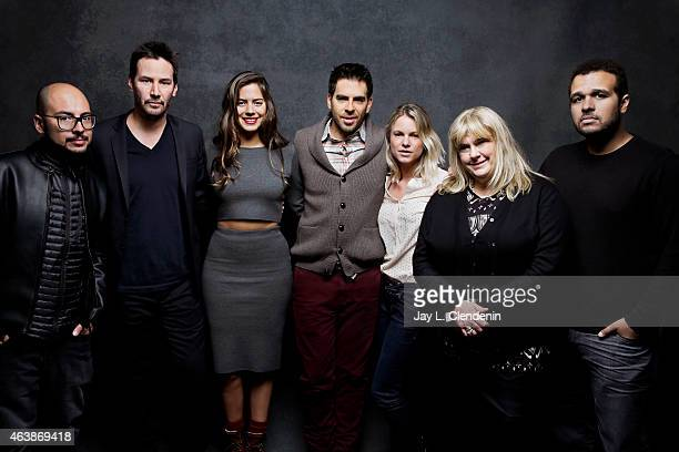 Nicolas Lopez Ignacia Allamand Lorenza Izzo Eli Roth Keanu Reeves and Aaron Burns from 'Knock Knock' pose for a portrait for the Los Angeles Times at...
