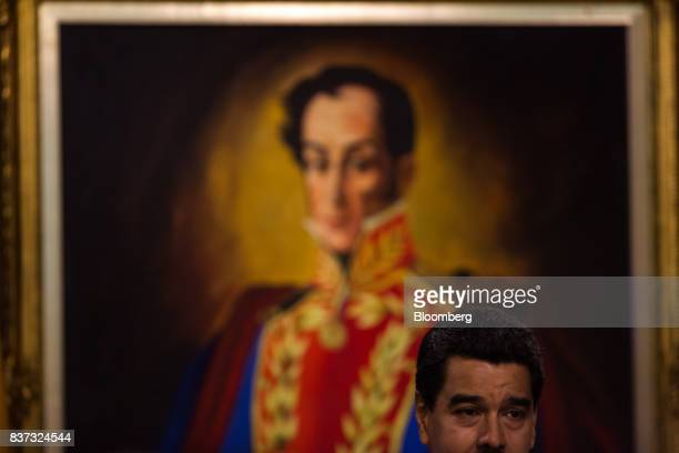 Nicolas Maduro Venezuela's president speaks during a news conference in Caracas Venezuela on Tuesday Aug 22 2017 Madurosaid Venezuela's...