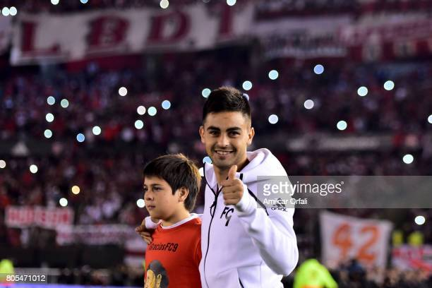 Nicolas Martinez gets in the field prior the Fernando Cavenaghi's farewell match at Monumental Stadium on July 01 2017 in Buenos Aires Argentina