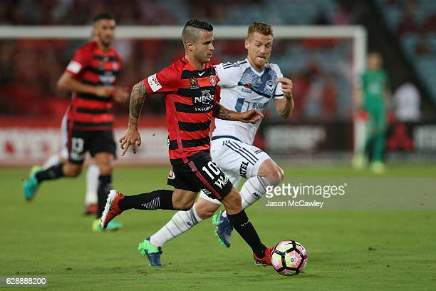 Nicolas Martinez of the Wanderers controls the ball during the round 10 ALeague match between the Western Sydney Wanderers and the Melbourne Victory...