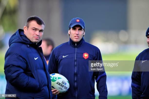 Nicolas MAS / Gonzalo Quesada Entrainement France Coupe du Monde de Rugby 2011 Napier