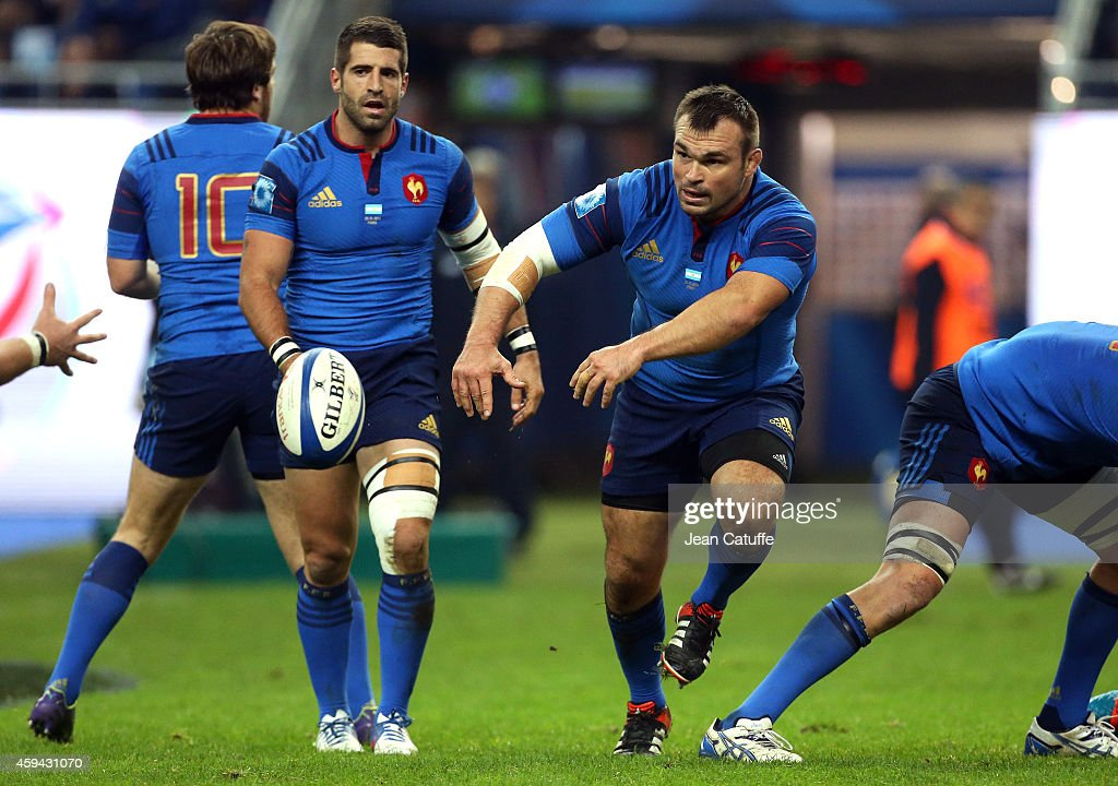 <a gi-track='captionPersonalityLinkClicked' href=/galleries/search?phrase=Nicolas+Mas&family=editorial&specificpeople=598314 ng-click='$event.stopPropagation()'>Nicolas Mas</a> of France in action during the international friendly match between France and Argentina at Stade de France on November 22, 2014 in Saint-Denis near Paris, France.