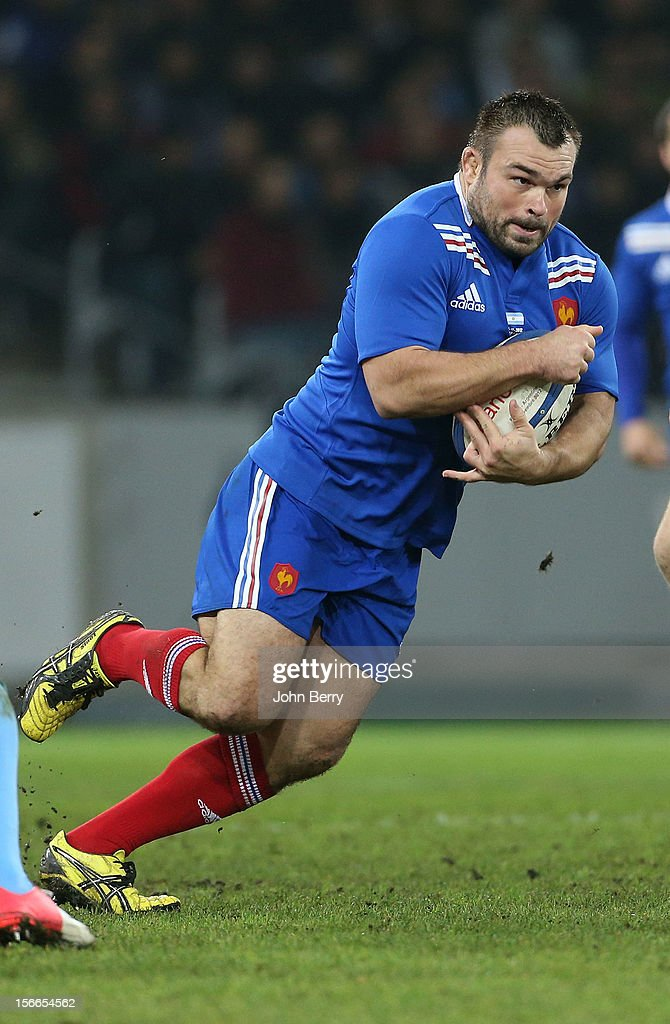 <a gi-track='captionPersonalityLinkClicked' href=/galleries/search?phrase=Nicolas+Mas&family=editorial&specificpeople=598314 ng-click='$event.stopPropagation()'>Nicolas Mas</a> of France in action during the rugby autumn international between France and Argentina (39-22) on November 17, 2012 in Lille, France.