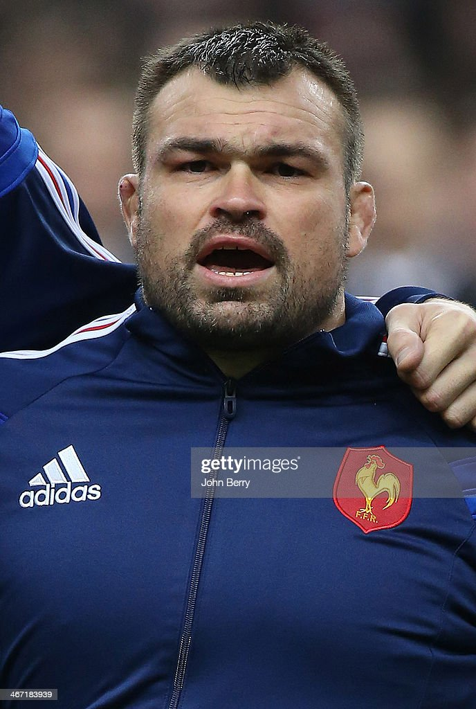 <a gi-track='captionPersonalityLinkClicked' href=/galleries/search?phrase=Nicolas+Mas&family=editorial&specificpeople=598314 ng-click='$event.stopPropagation()'>Nicolas Mas</a> of France looks on prior to the RBS Six Nations rugby match between France and England at the Stade de France stadium on February 1, 2014 in Saint-Denis near Paris, France.