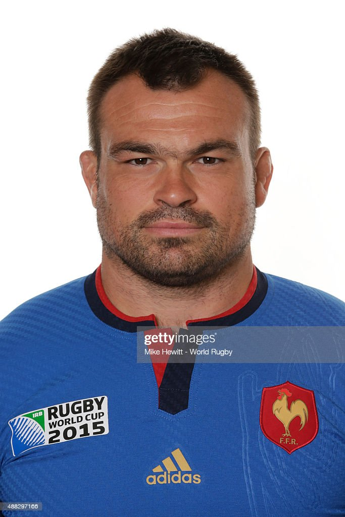 <a gi-track='captionPersonalityLinkClicked' href=/galleries/search?phrase=Nicolas+Mas&family=editorial&specificpeople=598314 ng-click='$event.stopPropagation()'>Nicolas Mas</a> of France poses during the France Rugby World Cup 2015 squad photo call at the Selsdon Park Hotel on September 15, 2015 in Croydon, England.