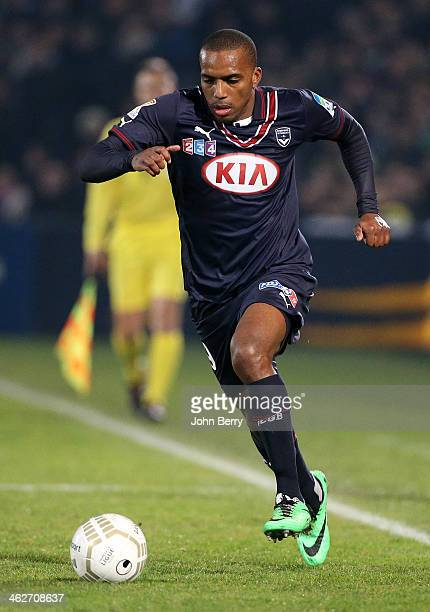 Nicolas MauriceBelay of Bordeaux in action during the french League Cup match between FC Girondins de Bordeaux and Paris SaintGermain FC at the Stade...