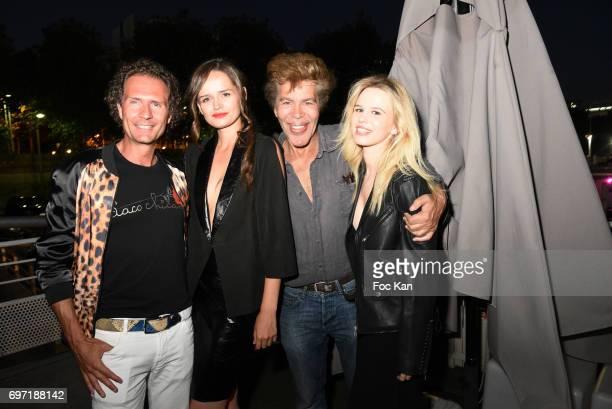 Nicolas Mereau model Elisabeth Oros Igor Bogdanov and Julie Jardon attend Croisiere Show hosted by SO Life at Alizee Boat on June17 2017 in Paris...