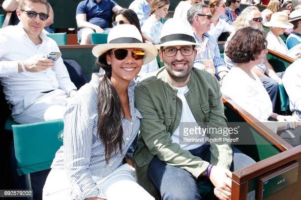 Nicolas Meyers Bettencourt and guest attend the 2017 French Tennis Open Day Height at Roland Garros on June 4 2017 in Paris France