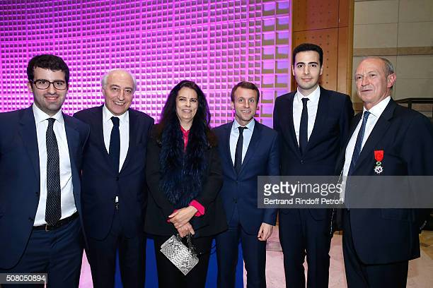 Nicolas Meyers JeanPierre Meyers his wife Francoise Bettencourt Meyers Ministry of Economy Industry and Digital Emmanuel Macron JeanVictor Meyers and...