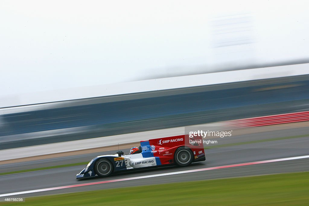 Nicolas Minassian of France drives the #27 SMP Racing Oreca 03 Nissan during the FIA World Endurance Championship 6 Hours of Silverstone sportscar race at the Silverstone Circuit on April 20, 2014 in Northampton, England.