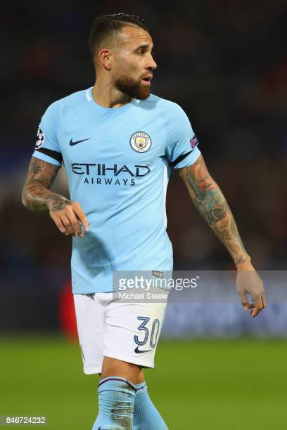 Nicolas Otamendi of Manchester City during the UEFA Champions League group F match between Feyenoord and Manchester City at Feijenoord Stadion on...