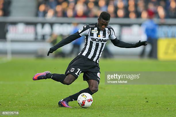Nicolas Pepe of Angers during the French Ligue 1 match between Angers and Saint Etienne on November 27 2016 in Angers France