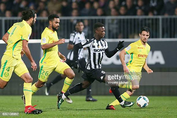 Nicolas Pepe of Angers during the French Ligue 1 match between Angers and Nantes on December 16 2016 in Angers France