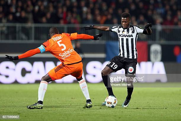 Nicolas Pepe of Angers during the Ligue 1 match between Angers SCO and FC Lorient on December 3 2016 in Angers France