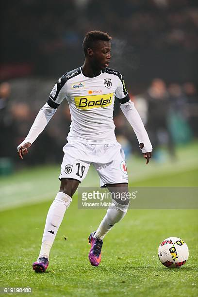 Nicolas Pepe of Angers during the Ligue 1 match between Guingamp and Angers at Stade du Roudourou on October 29 2016 in Guingamp France