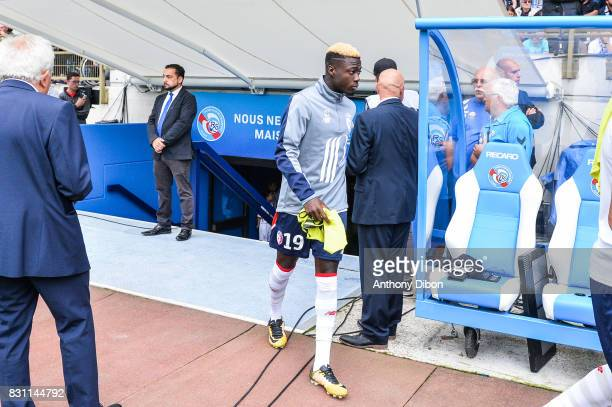 Nicolas Pepe of Lille during the Ligue 1 match between Racing Club Strasbourg and Lille OSC at Stade de la Meinau on August 13 2017 in Strasbourg