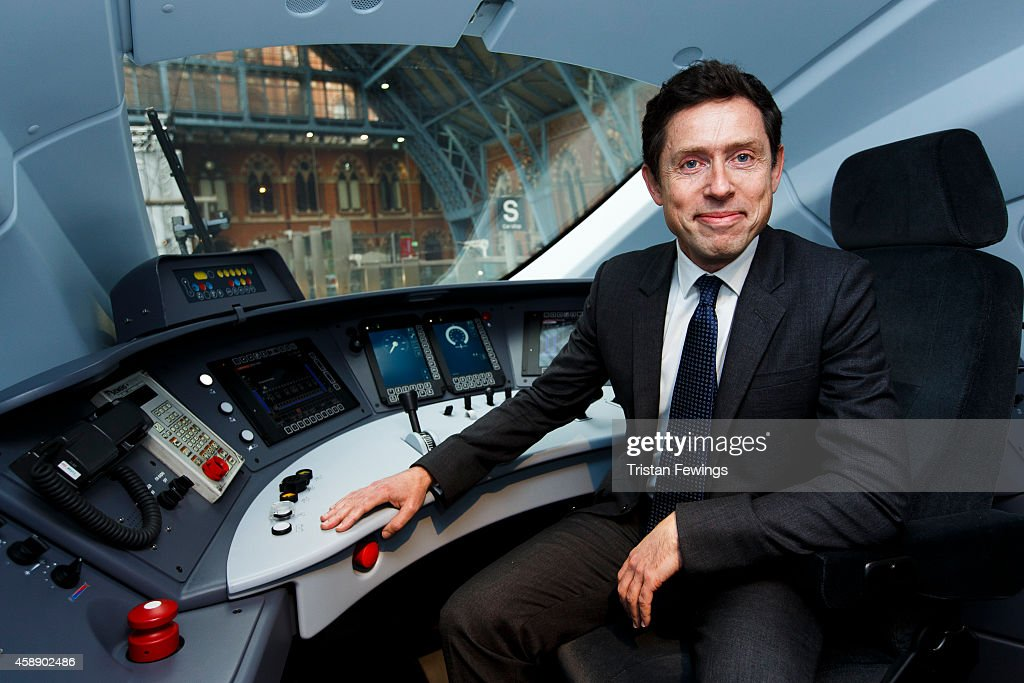 Nicolas Petrovic CEO of Eurostar attends the unveiling Eurostar's brand new e320 fleet today complete with a live reveal of the train and special...