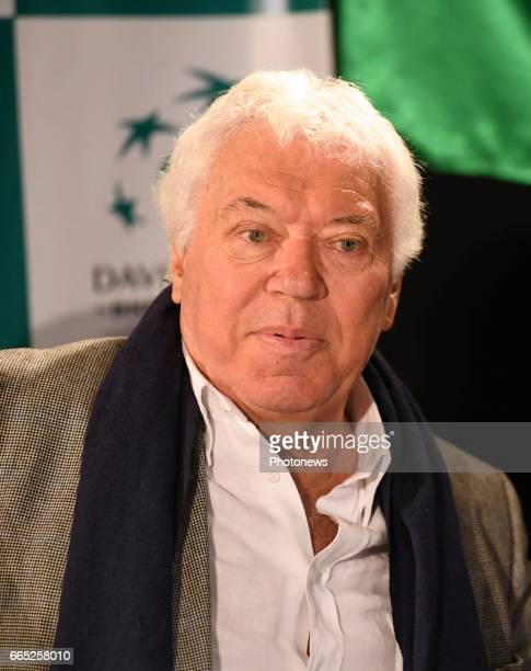 Nicolas Pietrangeli president of italian tennis federation pictured during the draw of Davis Cup World quarterfinal match between Belgium and Italy...
