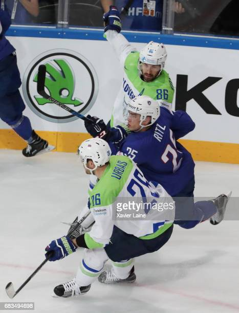Nicolas Ritz of France during the 2017 IIHF Ice Hockey World Championship game between France and Slovenia at AccorHotels Arena on May 15 2017 in...