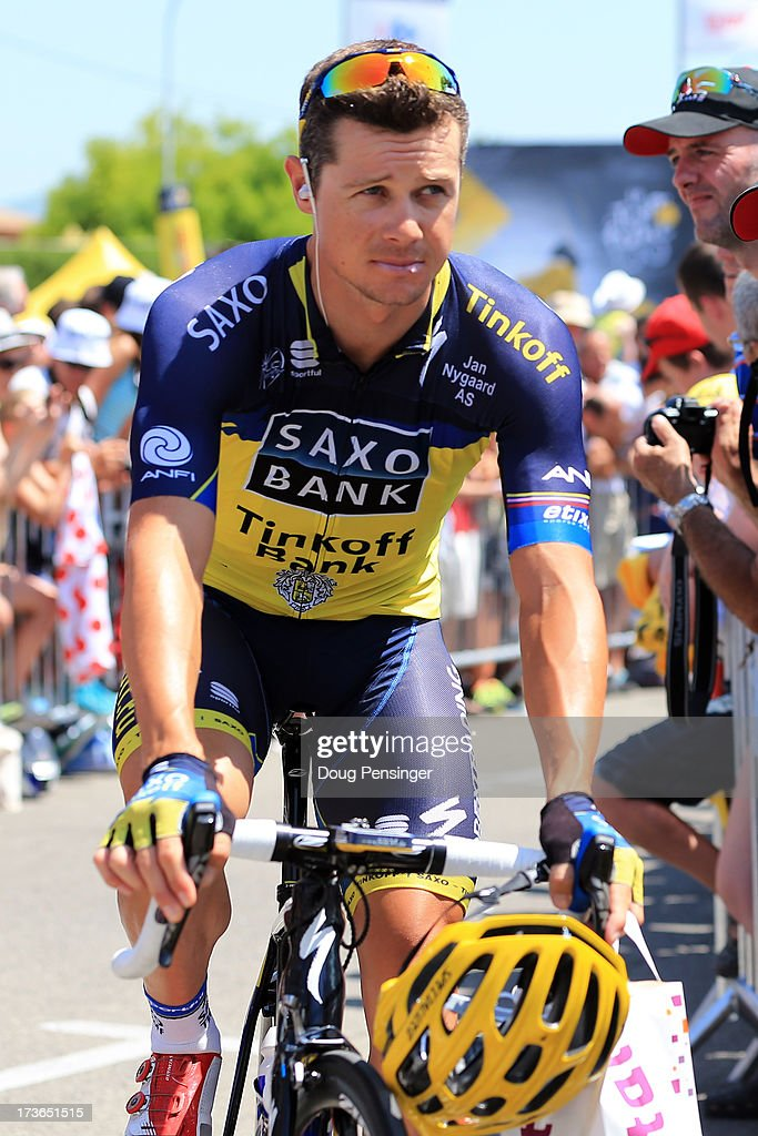 <a gi-track='captionPersonalityLinkClicked' href=/galleries/search?phrase=Nicolas+Roche&family=editorial&specificpeople=5446631 ng-click='$event.stopPropagation()'>Nicolas Roche</a> of Ireland and Team Saxo-Tinkoff looks on ahead of stage sixteen of the 2013 Tour de France, a 168KM road stage from Vaison-la-Romaine to Gap, on July 16, 2013 in Vaison-la-Romaine, France.
