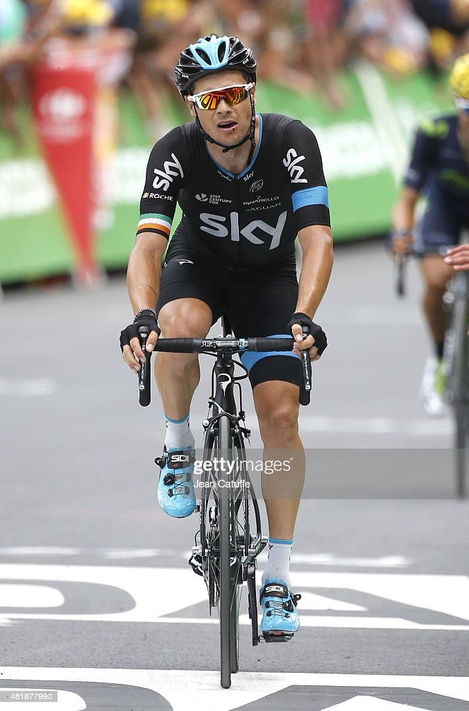 <a gi-track='captionPersonalityLinkClicked' href=/galleries/search?phrase=Nicolas+Roche&family=editorial&specificpeople=5446631 ng-click='$event.stopPropagation()'>Nicolas Roche</a> of Ireland and Team Sky crosses the finish line of stage seventeenth of the 2015 Tour de France, a 161 km stage from Digne-Les-Bains to Pra Loup on July 22, 2015 in Gap, France.