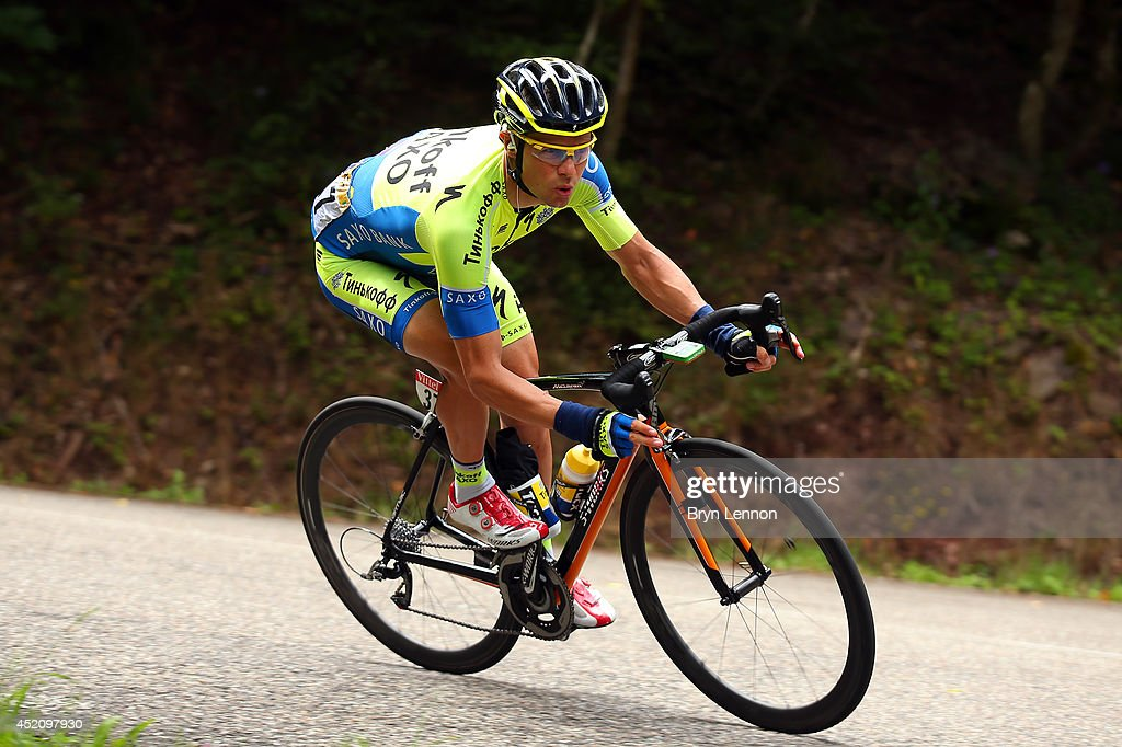 <a gi-track='captionPersonalityLinkClicked' href=/galleries/search?phrase=Nicolas+Roche&family=editorial&specificpeople=5446631 ng-click='$event.stopPropagation()'>Nicolas Roche</a> of Ireland and Tinkoff-Saxo in action during the ninth stage of the 2014 Tour de France, a 170km stage between Gerardmer and Mulhouse, on July 13, 2014 in Mulhouse, France.