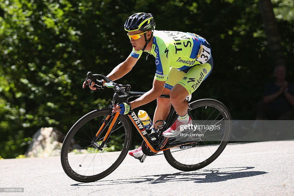 <a gi-track='captionPersonalityLinkClicked' href=/galleries/search?phrase=Nicolas+Roche&family=editorial&specificpeople=5446631 ng-click='$event.stopPropagation()'>Nicolas Roche</a> of Ireland and Tinkoff-Saxo in action during the seventeenth stage of the 2014 Tour de France, a 125km stage between Saint-Gaudens and Saint-Lary-Soulan Pla d'Adet, on July 23, 2014 in Saint-Lary Pla d'Adet, France.